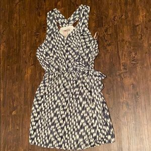 FOREVER 21 Striped Faux Wrap Dress